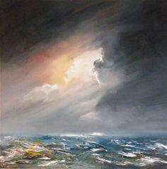 """Evening sea"" by Gillian Smyth Irish Art, Leprechaun, Design Show, St Patrick, Universe, Around The Worlds, Rain, Corner, Waves"