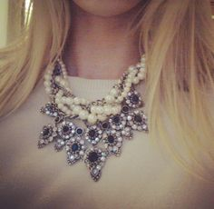 Zara necklace, pearls, bold.