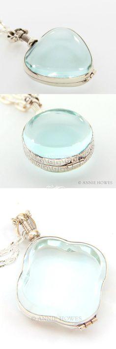 Beautiful glass lockets.