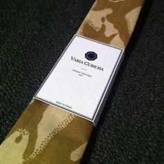 Sand Camo Necktie detail