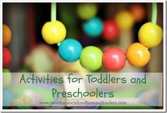Activities for Toddlers and Preschoolers