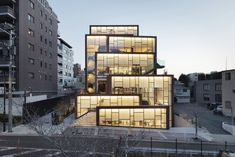 Sleek in the City — Design Anthology nendo Designs a New Lifestyle Complex in Tokyo Retail Architecture, Contemporary Architecture, Architecture Design, Design Architect, Archi Design, Architecture People, Garden Architecture, Modern Contemporary, Café Exterior