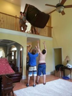 Even something as simple as moving a couch becomes a deadly activity: | 25 Completely Scientific Reasons Why Women Live Longer Than Men