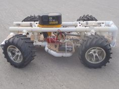 A DIY RC car. Scaled down, this is a perfect project for two little boys. #rccarsdiy
