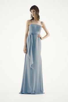 White by Vera Wang - MORE COLORS Spaghetti Strap Chiffon Skirt with Godets Style VW360186 In Store & Online $188.00