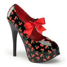 Cherry Summer Heels - Starry Night - The Violet Vixen