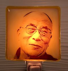 A personal favorite from my Etsy shop https://www.etsy.com/listing/524526366/dalai-lama-fused-glass-night-light