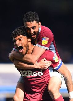 Tyrone Mings and Neil Taylor of Aston Villa celebrates at the fulltime during the Sky Bet Championship match between Birmingham City v Aston Villa at... Aston Villa Wallpaper, Aston Villa Team, Neil Taylor, Football Boyfriend, Jack Grealish, Male Athletes, Soccer Guys, Best Club, Athletic Men