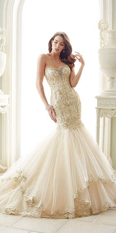 Utterly Gorgeous New Bridal Gowns By Sophia Tolli ❤ See more: http://www.weddingforward.com/bridal-gowns/ #wedding #dresses