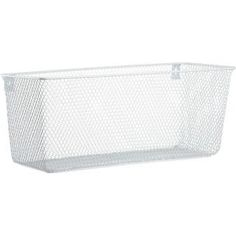 Wall mounted basket for the kitchen. Would love if it looked less like generic cube deco tho. #cb2 $19.95