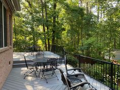 Look at the amazing, open views of the surrounding landscape from this TimberTech deck addition in Blythewood, SC! Deck Builders, Outdoor Spaces, Outdoor Decor, Composite Decking, Backyard, Patio, Decks, Landscape, Amazing