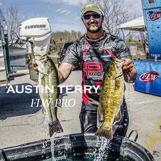 Austin Terry, a current Amphibia Pro Staff Member on the FLW Tour #AmphibiaProStaff