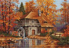 Autumn Landscape Cross Stitch Kit | sewandso