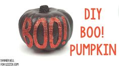 Teen DIY crafting with Sizzix is so fun! Let Sizzix Resident Designer, Tanner Bell, show you how to create this fun DIY Boo! Pumpkin.