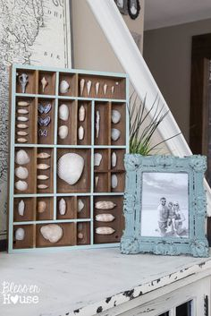 A beautiful collection of easy to make Chic Coastal Crafts for the home.