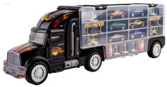 Amazon.com: WolVol Transport Car Carrier Truck Toy for Boys (includes 6 cars and 28 slots): Toys & Games