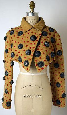 Jacket | Geoffrey Beene (American, 1927-2004) | United States, Autumn/Winter 1987-1988 | Materials: wool, plastic, silk, hematite | The Metropolitan Museum of Art, New York