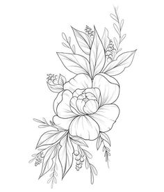 Pin by Cinzia Cara on Florales Floral Tattoo Design, Flower Tattoo Designs, Flower Sketches, Art Sketches, Mini Tattoos, Body Art Tattoos, Wild Flower Tattoos, Pencil Art Drawings, Tattoo Drawings