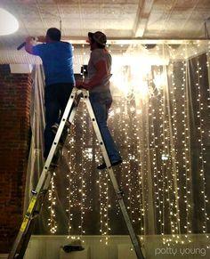 Vertical strings of lights, great blog: