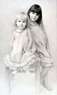 Julianna & Charlotte  by  Paul McCormack (1962, American)