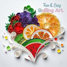 Bring out the fullness of your creativity with our Easy Quilling Grid - Produce higher quality quilling while having more fun! >>Handmade DIY paper quilling to Neli Quilling, Paper Quilling Flowers, Paper Quilling Patterns, Quilling Paper Craft, Paper Crafts, Quilling Work, Diy Crafts, Quiling Paper Art, Fruits Drawing
