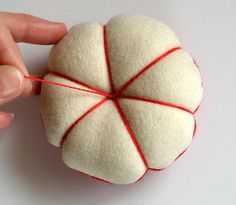 The Classic Pincushion. In depth tutorial here...http://fiberluscious.blogspot.com.au/p/classic-pincushion.html