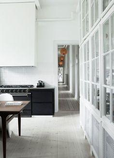 kitchen in a spacious Copenhagen apartment