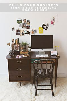 Cute desk space 5 Steps to Starting your Small Creative Business | business | design | indie business