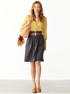 Work outfit | Skirt Teacher Clothes, pink instead of yellow
