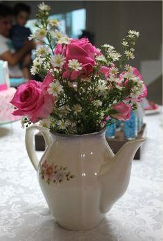 arranjo de flores chá