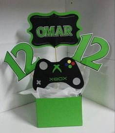 XBox Party Centerpiece & Accessories by CreationsbyRoxy on Etsy