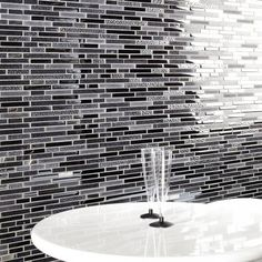 These silver and black mosaic tiles are amazing tiles for both kitchens and bathrooms.