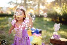 What...princesses blow bubbles - Lea: 3 Year Portraits