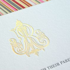 Monograms. Everyone loves them, but have you ever considered them to be a lifetime keepsake? Our designers at Bell'INVITO Stationers draw our monograms by hand, interlocking the initials and creating something totally unique. We love to add them to wedding invitations, for a timeless look. And the happy couple gets to keep the artwork as their own personal, one-of-a-kind keepsake.