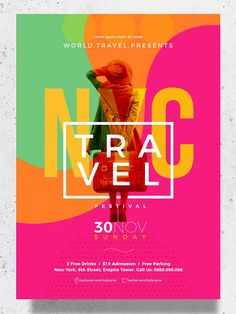 Travel & Event Poster Template PSD, AI, EPS, DOC, INDD Event Poster Template, Poster Templates, File Organization, Microsoft Powerpoint, Free Fonts Download, Layout Design, Business Cards, Photoshop, Words