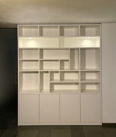 Vakkenkast RAL9010 mat gelakt Shelving, Bookcase, Home Decor, Shelves, Decoration Home, Room Decor, Shelving Units, Book Shelves, Home Interior Design