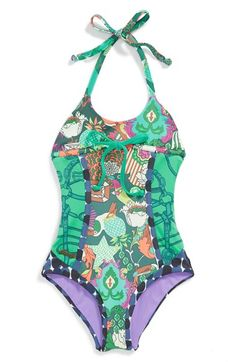 Maaji 'Royal Riders' Reversible One-Piece Swimsuit (Big Girls) available at #Nordstrom