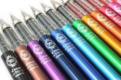 Fine tipped pens have always been my weakness!! || Pilot Hi-Tec-C Maica Gel Ink Pen - 0.4 mm - 12 Color Set