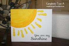 Sunshine craft for kids for Mother's Day or birthday gift