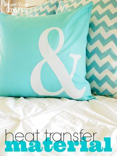 DIY Pillow with Silhouette Heat Transfer Material {tutorial} and giveaway. http://www.gingersnapcrafts.com/