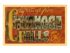 Greetings from Cuyahoga Falls, Ohio
