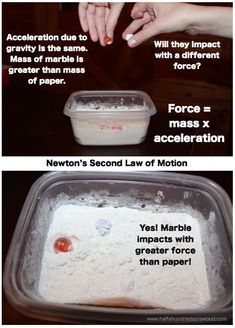 Newton's Laws of Motion… Simplified - a great list of Newton's laws with activities to demonstrate each one to kids. Love this!
