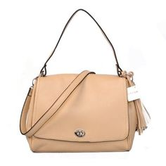 Coach Turnlock Medium Apricot Shoulder Bags 51370