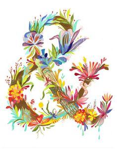 flowery ampersand: Katie Daisy