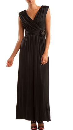 Maxi Dress With Embelished Belt - love this