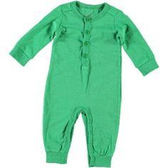 Jut en Juul Lifestyle for Kids : Overall LS  - Grass Green uni appelgroen