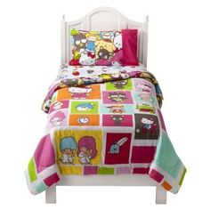Hello Kitty bed suit my daughter Solara would love this she is so into hello kitty rite now