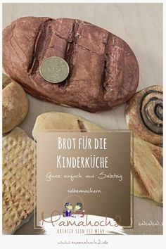 Brot für die Kinderküche aus Salzteig selbermachen – DIY Idee Pretend Play, Projects To Try, Kitchen, Kids, Babys, Dyi, Low Carb, Plants, Diy