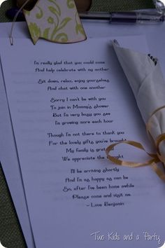 Poem from baby