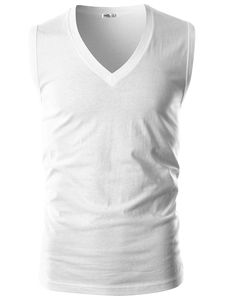 Men's Clothing, T-Shirts & Tanks, Tank Tops,Mens Slim Fit V Neck Sleeveless Tank Top - White - # # Gym Tank Tops, Muscle Tank Tops, Tanks, Mens Clothing Styles, Men's Clothing, White Outfit For Men, Gym Outfit Men, Henleys, Cheap Clothes Online